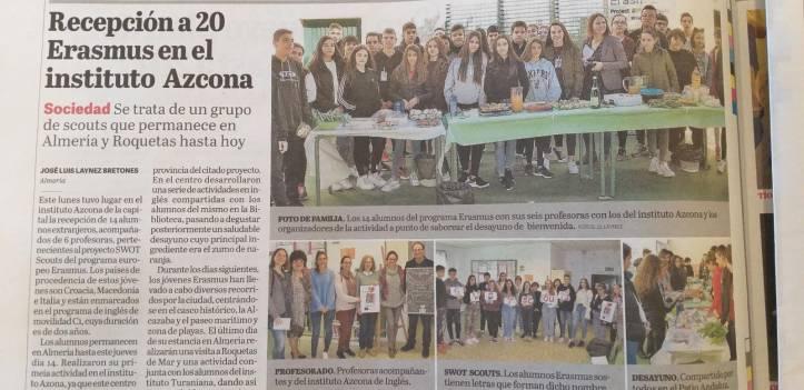 dissemination_La Voz de Almeria newspaper