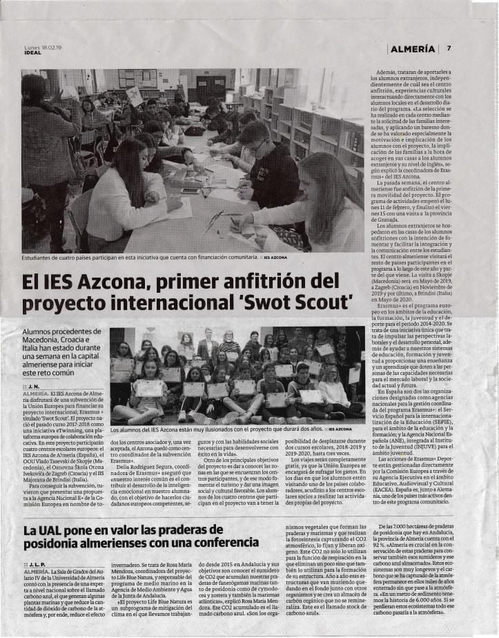 El Ideal_Noticia Swot Scouts