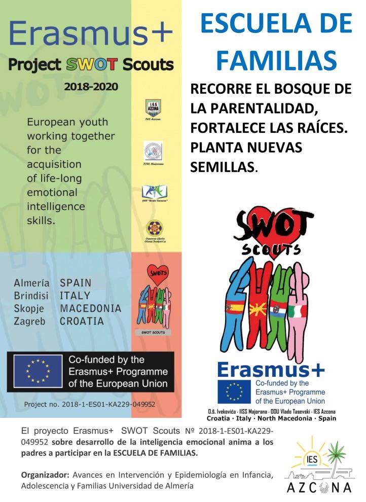ESCUELA DE FAMILIAS portada del folleto